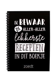 recepten invulboek zwart/wit
