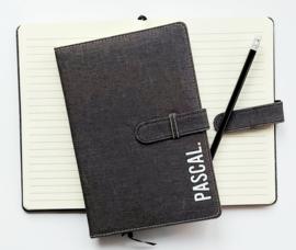 notitieboek canvas A5 met naam