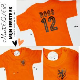 baby oranje shirt maat 62/68