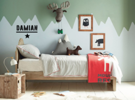 muur/raamstickers , kies uit 18 ontwerpen,  +/- 25 cm hoog