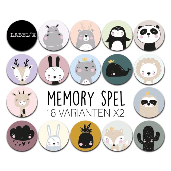 memory spel  animals