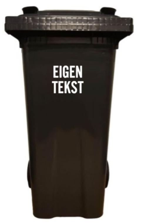 kliko - vuilcontainer - sticker;  eigen tekst