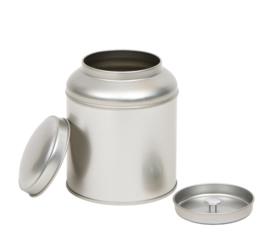 Theeblik zilver met binnendeksel