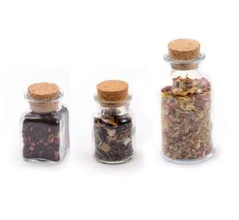 Voordeelset voorraadpotten glas mix 3 stuks