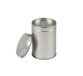 Theeblik met aroma deksel zilver klein