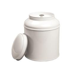 Kruidenblik met binnendeksel wit