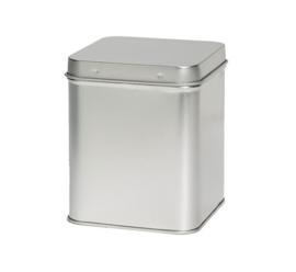 Theeblik vierkant zilver 250 gram