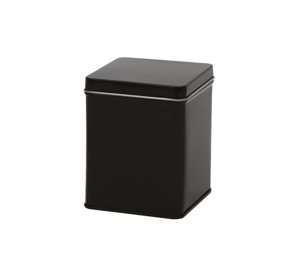 Theeblik zwart vierkant 100 gram