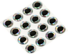 Rainbow Silver holographic 12mm