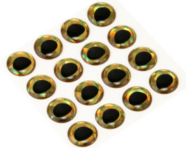 Rainbow Gold holographic 12mm
