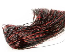 Tinsel Blend Hair - red black