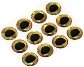 Rainbow Gold holographic 15mm