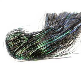 Tinsel Blend Hair - black peacock