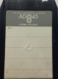 Recordable 8-track tape Quadraphonic - TDK 8TR-45AD USED
