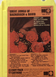 Bacharach & David - Great songs of Bacharach & David - Capitol Q8l-6734
