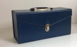 8-track opberg koffer - 8-track case - 13 tapes BLAUW
