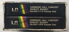 Shirley Bassey - Carnegie Hall Concert - Two tape set UA-DA1112-H en 1111-H