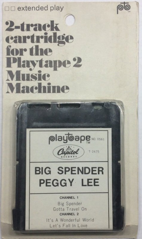 Peggy Lee - big spender Playtape No 0561 - Capitol  T-2475 SEALED
