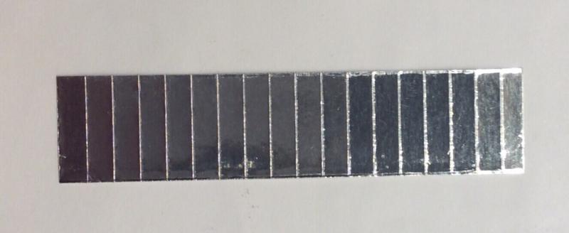 Schakelfolie Aluminium 18 strips kant en klaar