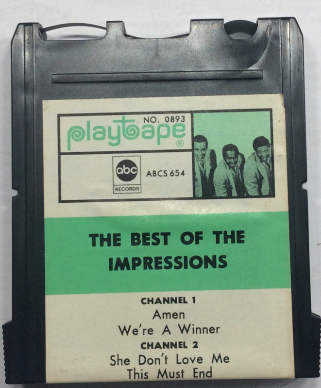 The best of The Impressions  - Playtape No 0893 - ABC 654