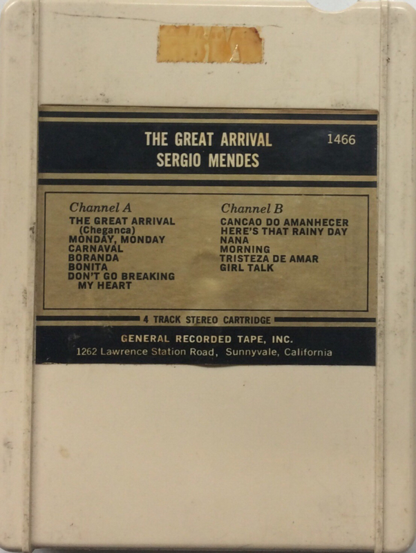 Sergio Mendes - The great arrival - General Recorded tape 1466