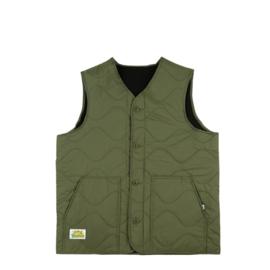 Butter Goods Gore Reversible Vest Army / Black