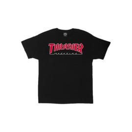 Thrasher - Outlined Tee Black