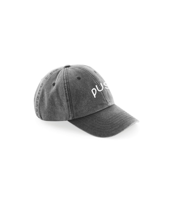 PUSH - Washed 6panel black