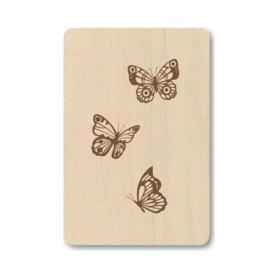 """Houten kaart """"Butterflies"""""""