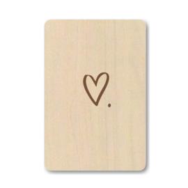 """Houten kaart """"Heart"""""""