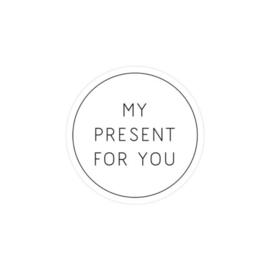 Sticker My present for you (set van 2)