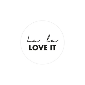 Sticker La la love it (set van 2)