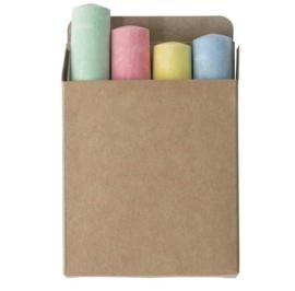 Stoepkrijt - 4 kleuren in een doosje