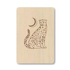 """Houten kaart """"Leopard"""""""