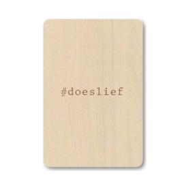 """Houten kaart """"#doeslief"""""""