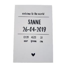 "Inspiratie-artikel: Geboortebord ""Sanne"""