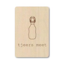 """Houten kaart """"Tjeers meet"""""""