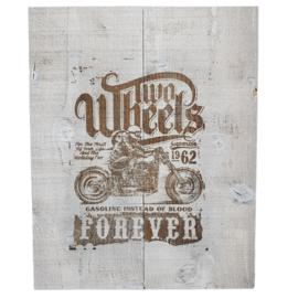 "Inspiratie-artikel: Wandbord ""Two wheels forever"""