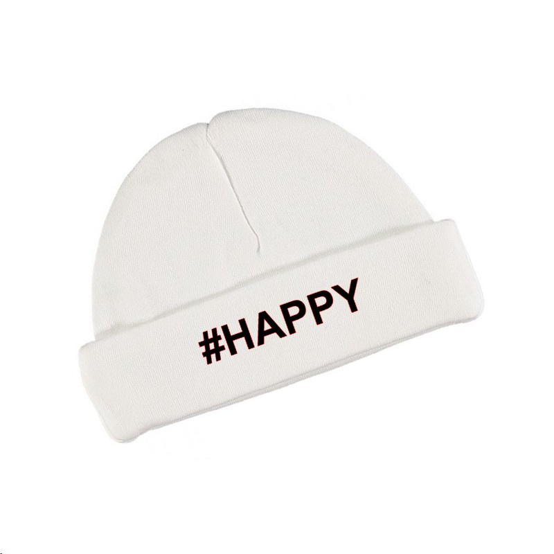 Babymutsje #HAPPY