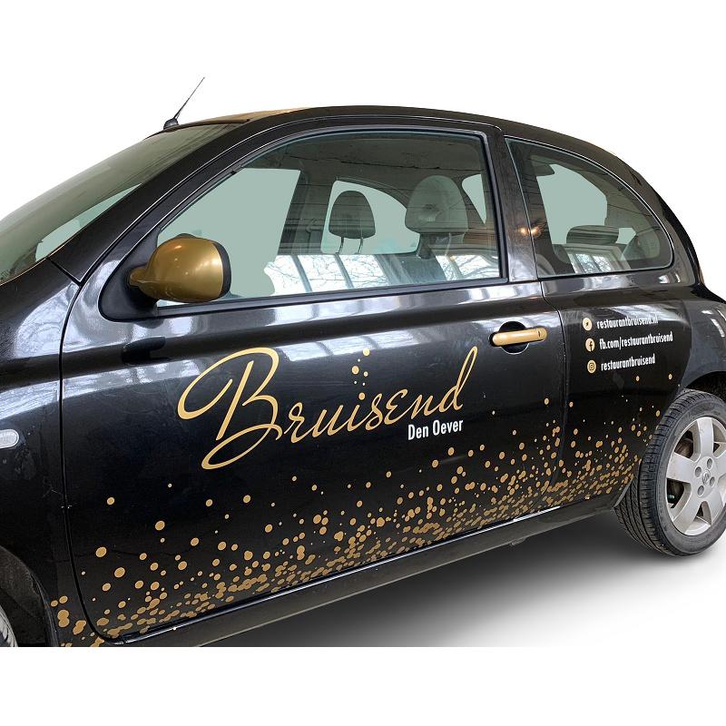 Zakelijk: Autobelettering Restaurant Bruisend