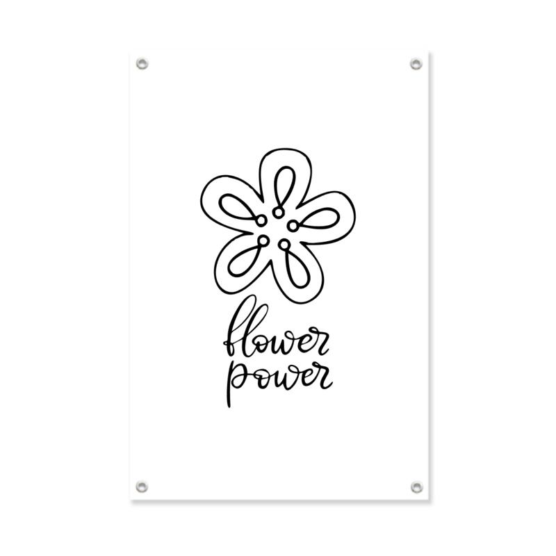 "XL-Tuinposter ""Flower power"""