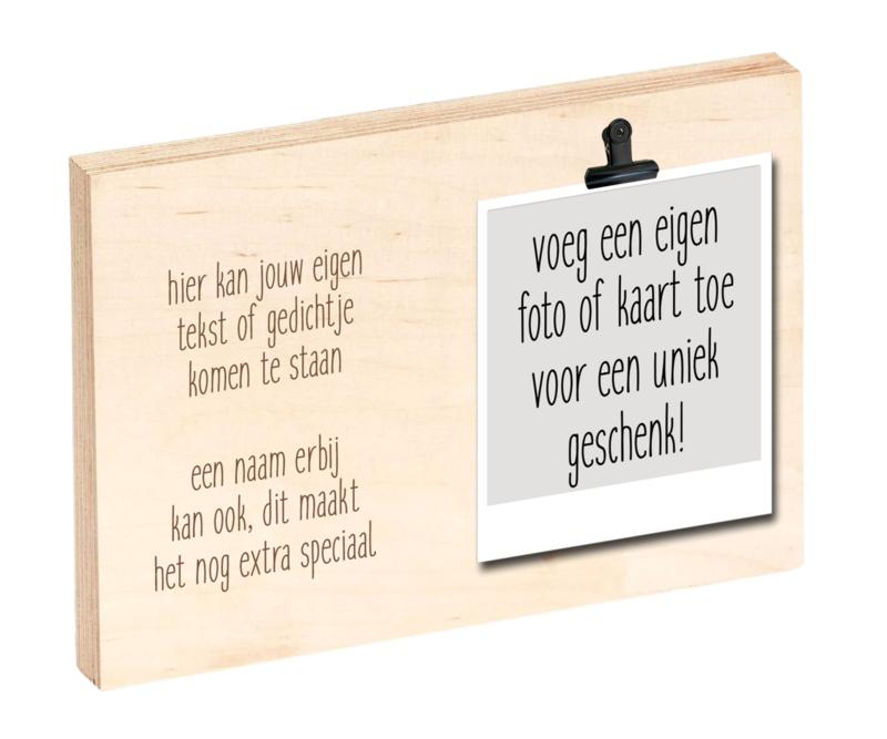 """Houten clipboard """"Eigen ontwerp"""""""