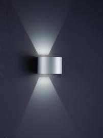 Buitenlamp Siri44-R led, zilver grijs IP54