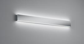 Wandlamp Vis led, chroom met acryl glas 90 cm