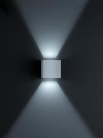 Buitenlamp Siri44 led, zilver grijs IP54