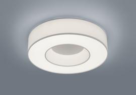 Plafondlamp Lomo led,  witte stoffen kap 45 cm