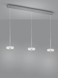 Hanglamp Kea led, 3-lichts nikkel