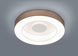 Plafondlamp Lomo led,  mokka stoffen kap 65 cm