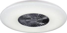 Plafond ventilator Visby led, 75 cm met starlight effekt