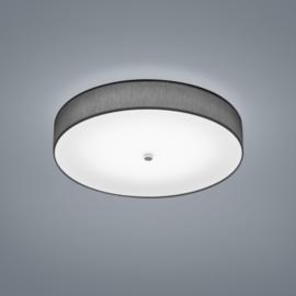 Plafondlamp Bora led,  antraciet stoffen kap 45 cm